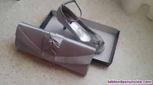 Vendo conjunto de cartera y zapatos