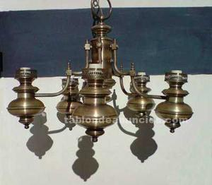Vendo lampara de bronce, perfecto estado
