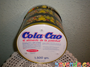 Caja redonda de Cola Cao