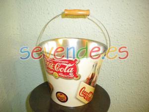 Cubo metálico Coca Cola