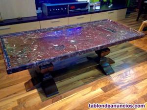 Mesa salón de mármol de carrara