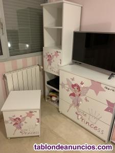 Se vende conjunto habitación de niña