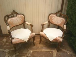 Vendo pareja de butacas Luis XV
