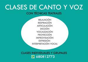 CLASES DE CANTO Y VOZ