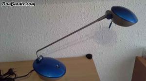 Flexo halogen de metal y plastico azul