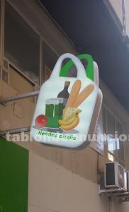 Banderola personalizada con forma de bolsa de la compra
