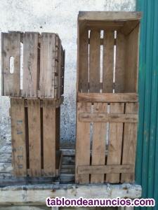 Caja frutera de madera