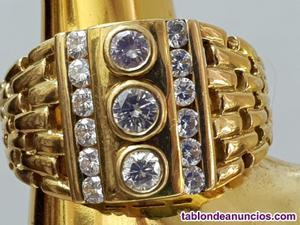 Exclusivo anillo de oro 18 k con diamantes 1,07 ct para