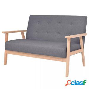 Sofá de 2 plazas tela gris oscura
