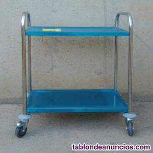 Carro inox 39x70x95cm