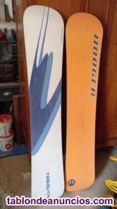 Tablas snowboard & botas ski