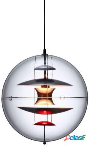 Wellindal Lámpara esfera transparente inspiración globe de