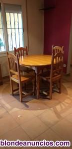 Conjunto comedor de mesa y sillas