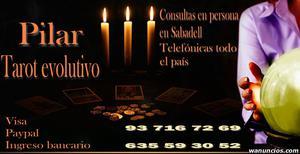Por visa o en persona, tarot en Sabadell con Pilar -