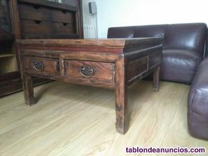 Vendo mesa de centro de madera de teka