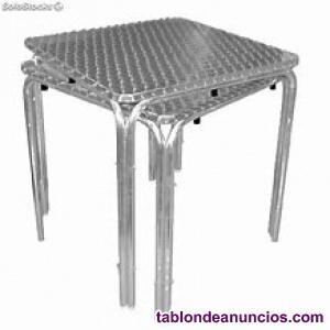 Vendo mesas y sillas de terraza hosteleria.