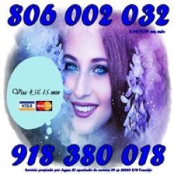 Videncia y Tarot reales Visa 4,5 € por 15 minutos. 806
