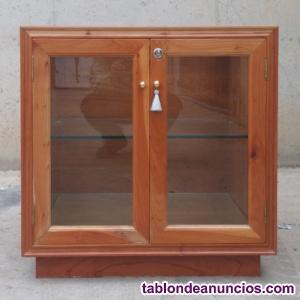 Mostrador expositor madera y cristal