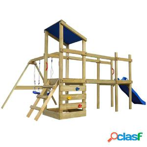 Parque Infantil escalera tobogán columpios 480x440x294cm