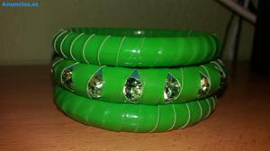 Conjunto De Pulseras Verde