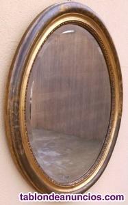 Gran espejo antiguo ovalado