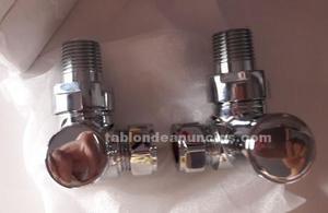 Llaves angulares para radiador de diseño moderno