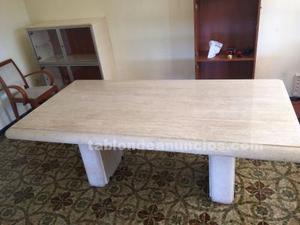Mesa de comedor de mármol travertino de 2 metros por uno