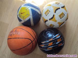 3 balones de fútbol y 1 de baloncesto