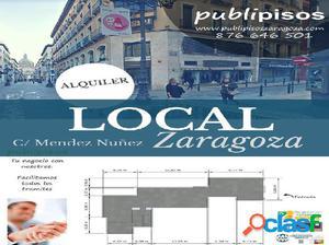 Local Comercial en Zona Comercial Centro Historico Zaragoza