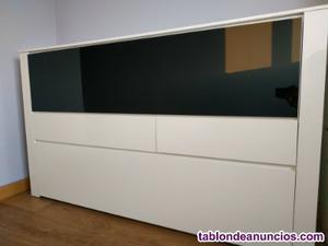 Mueble salón blanco lacado brillo
