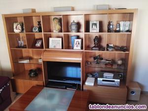 Mueble salón madera de cerezo regalo mesa auxiliar