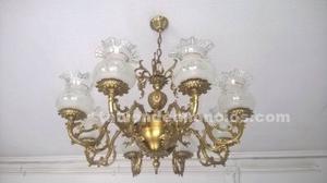 Preciosa lámpara de bronce