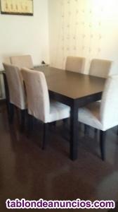 Vendo mesa con 6 sillas