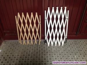 barreras extensibles de madera para mascotas y otros