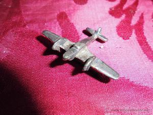 magnifica insignia antigua de aviador en plata original de