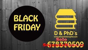 Regalamos tu tfg por Black Friday