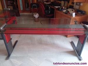 Conjunto mesas de recepción cristal