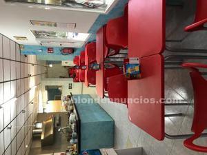 Traspaso cafeteria con licencia de restaurante totalmente