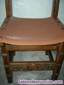 "Vendo silla madera maciza ""modelo castellana ""con asiento"