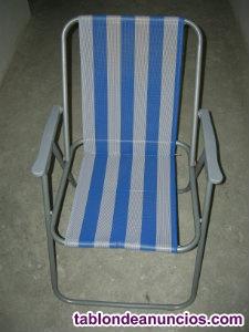 Vendo tres sillas de playa, en buen estado.