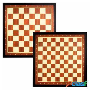 Abbey Game Tablero de ajedrez y damas con borde 49CD,