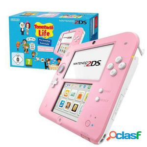 Consola nintendo 2ds pink/white + tomodachi life game +