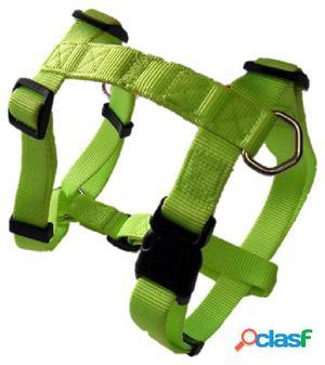 Freedog Arnés Nylon Neon Verde Fluor Para Perros 2.5 cm