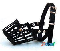 Freedog Bozal de plástico para su mascota de color negro L