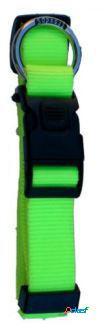 Freedog Collar Nylon Neon Verde Fluor Para Perros 1.5 cm