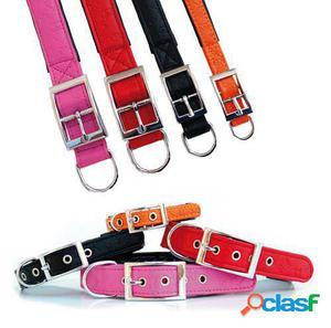 Freedog Collar Polipiel Huella 1,3 x 35cm Negro 2.5x60 cm