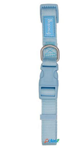 Freedog Collar nylon para su mascota de color Azul cielo 2.5