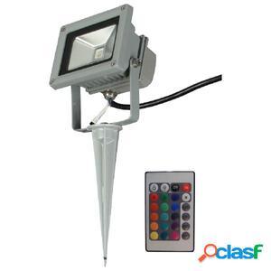 Luxform Foco LED para jardín Ceres con mando a distancia