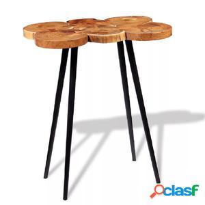 Mesa de bar de tronco madera maciza de acacia 90x60x110 cm