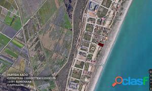 Parcela en venta en primera línea de la playa de Almenara